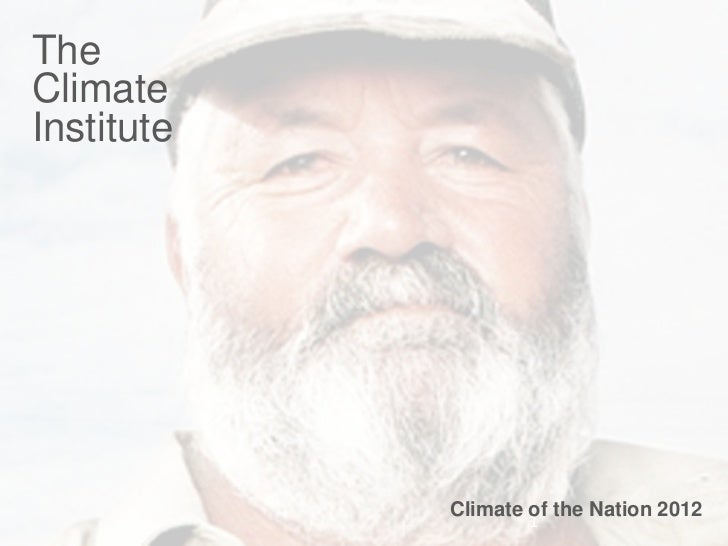 TheClimateInstitute            Climate of the Nation 2012                    1             1