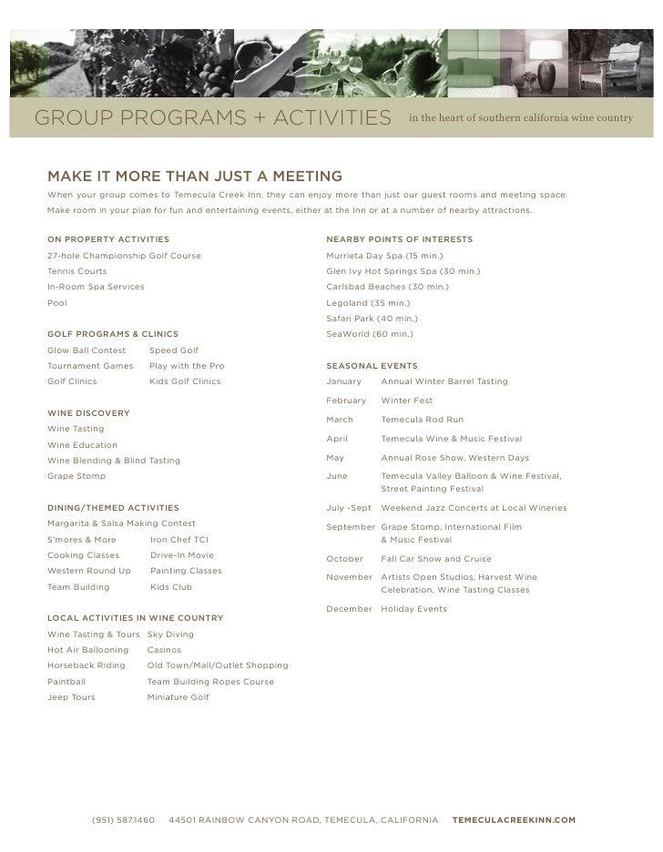 Temecula Creek Inn Sales Kit