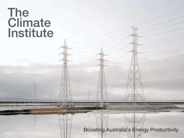 Boosting Australia's Energy Productivity