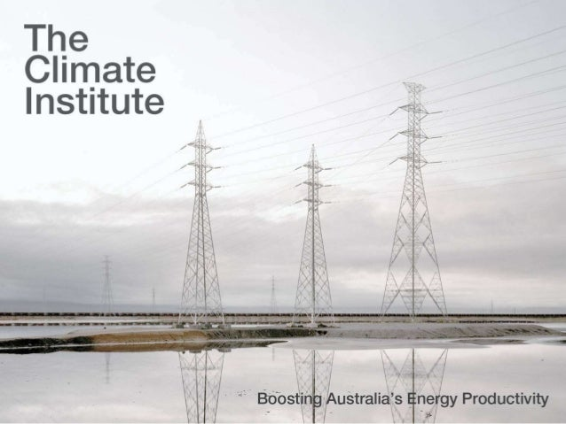 Boosting Australia's Energy Productivity