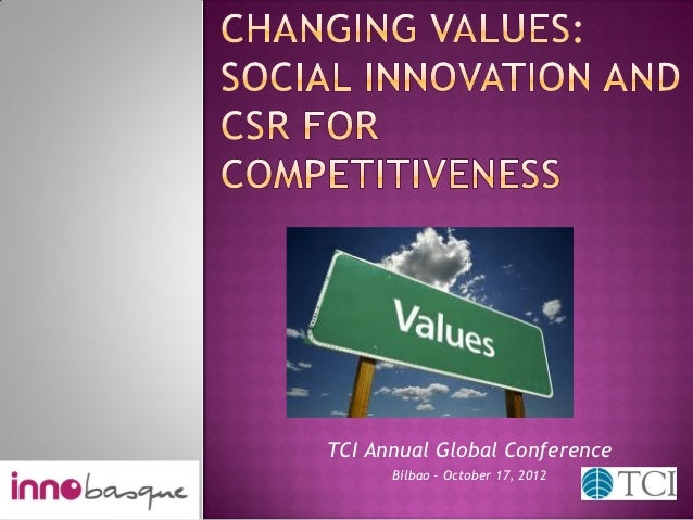 Changing values: Social Innovation and CSR for Competitivines