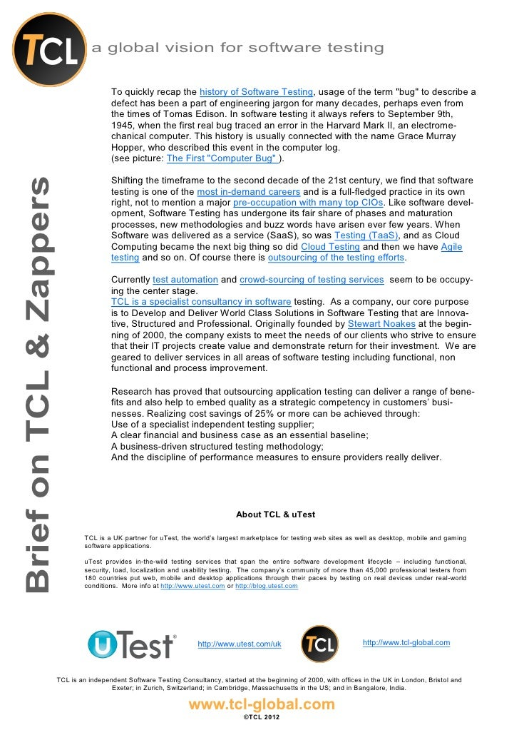 Tcl and zappers background and brief for media v0.01 vs 190712