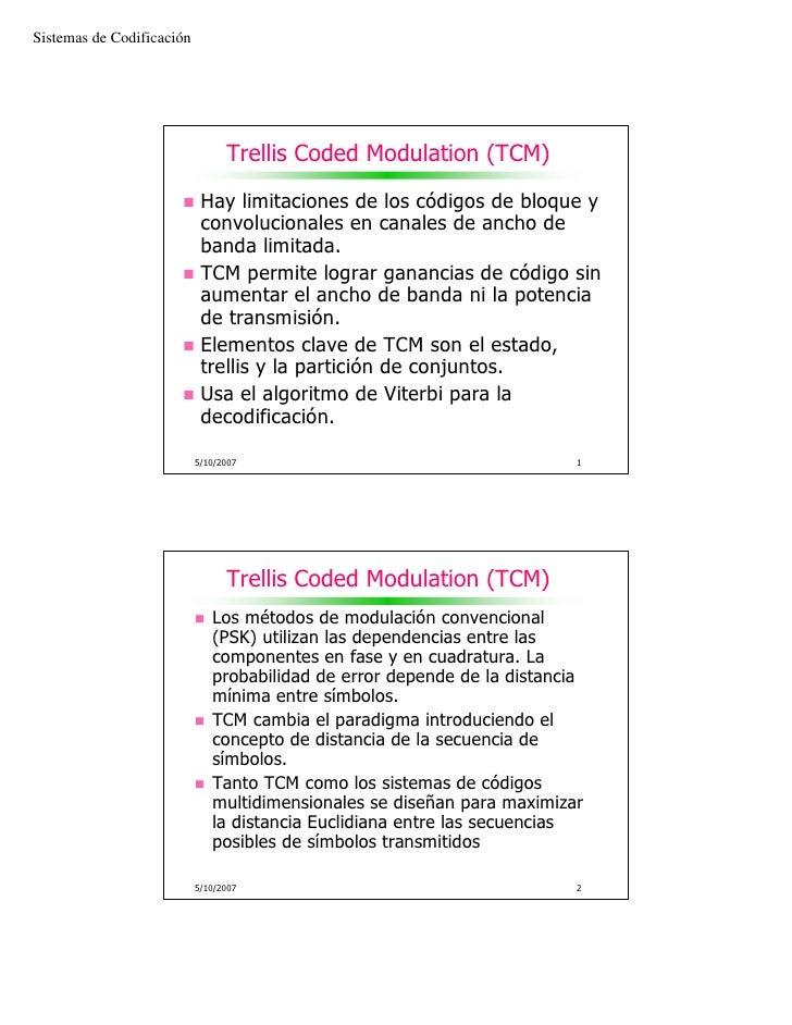 Sistemas de Codificación                                      Trellis Coded Modulation (TCM)                              ...