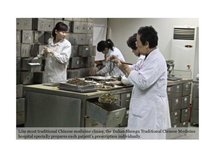 Like most traditional Chinese medicine clinics, the Dalian Shengu Traditional Chinese Medicine hospital specially prepares...