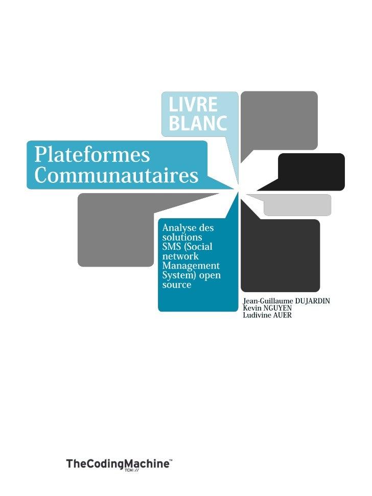 TCM - Livre blanc sur les plateformes communautaires Open Source