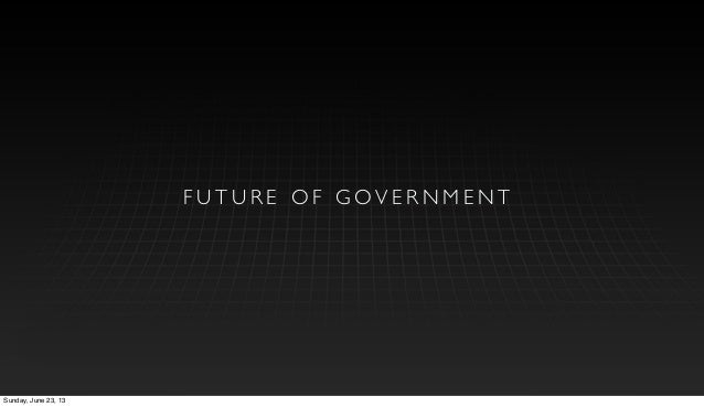 TCMA: Future of Government