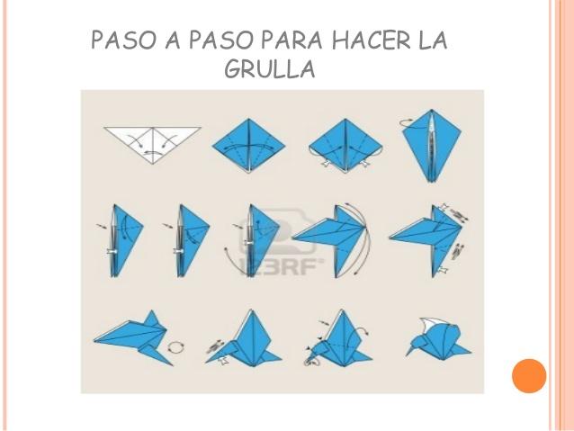 Como hacer una grulla de origami black hairstyle and for Como hacer una alberca paso a paso