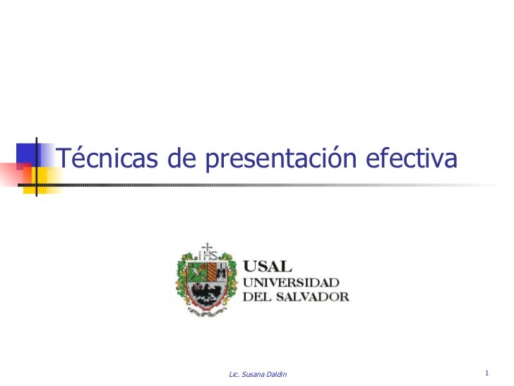 Tecnicas de Presentacion efectiva