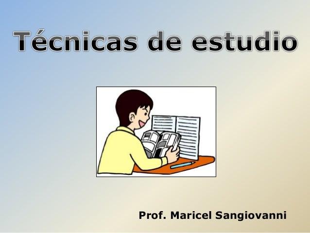 Prof. Maricel Sangiovanni