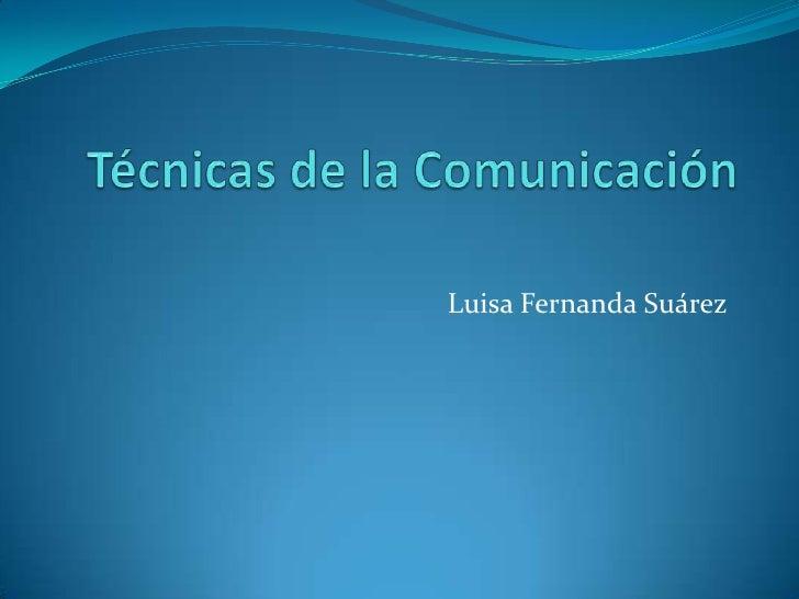 Luisa Fernanda Suárez