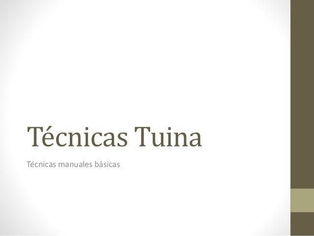 Técnicas Tuina Técnicas manuales básicas