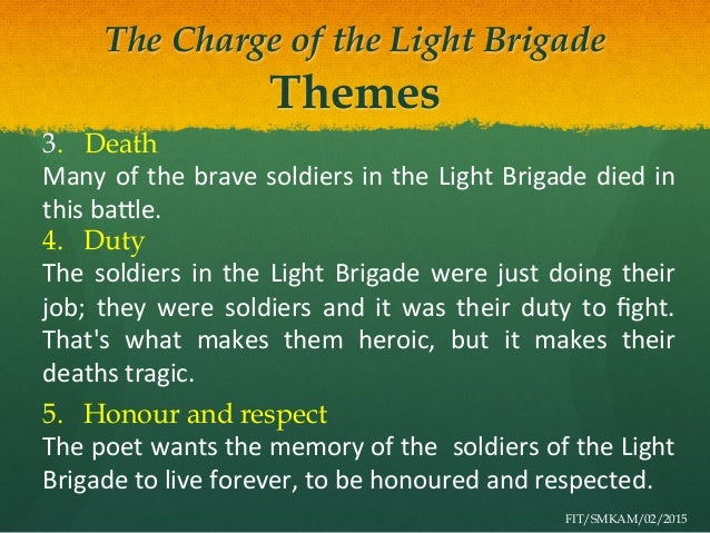 essay poem charge light brigade