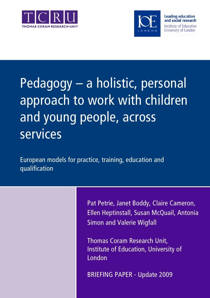 Tcru   Briefing Paper On Social Pedagogy