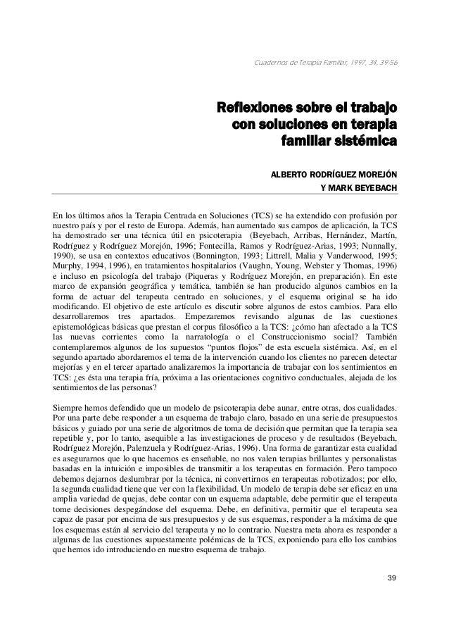 Cuadernos de Terapia Familiar, 1997, 34, 39-56                                              Reflexiones sobre el trabajo  ...