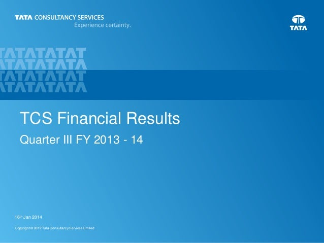 TCS Analysts Presentation Q3 FY 2013-14