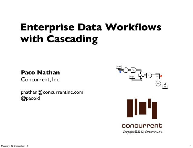 Enterprise Data Workflows               with Cascading                                            Document                 ...