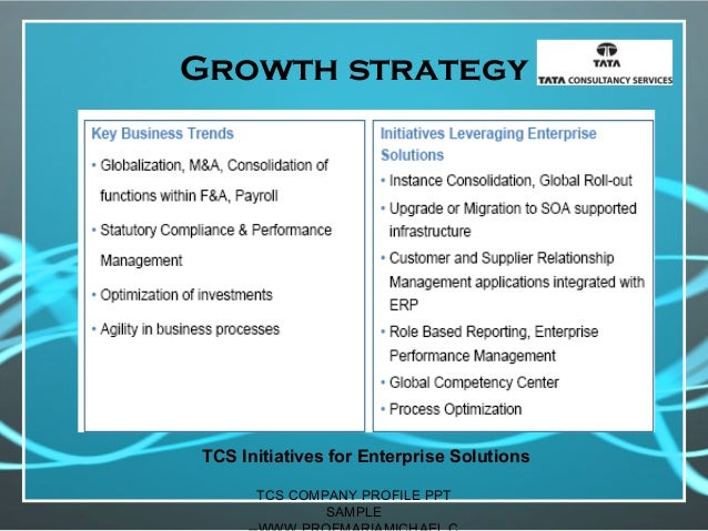 Tcs Company Profile Presentation Sample