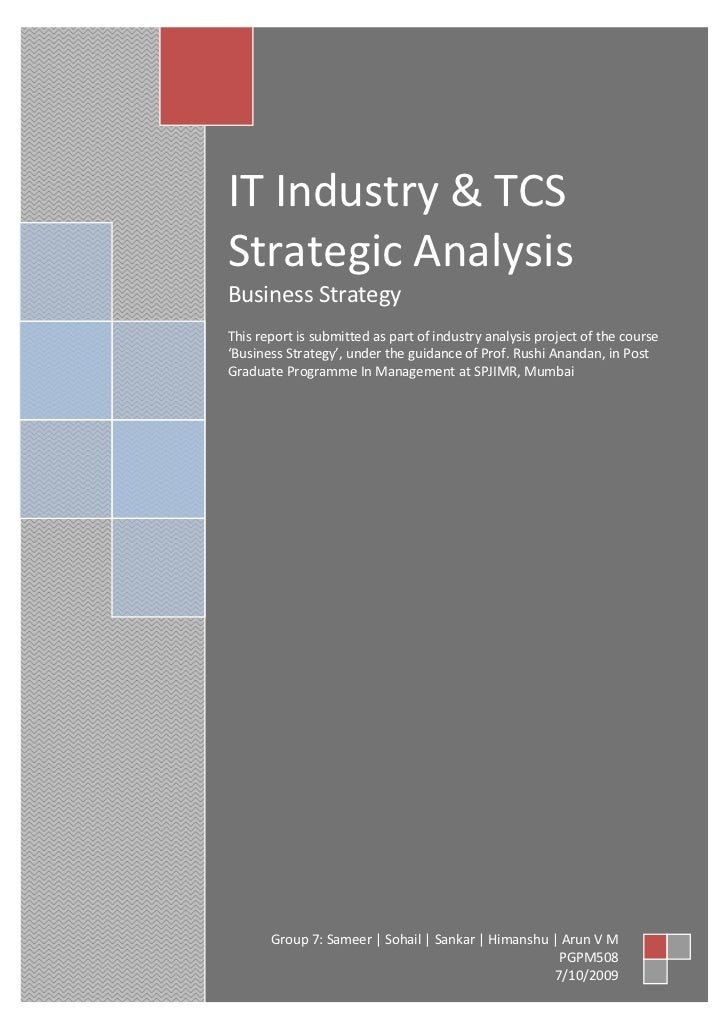 tcs iit industry analysis