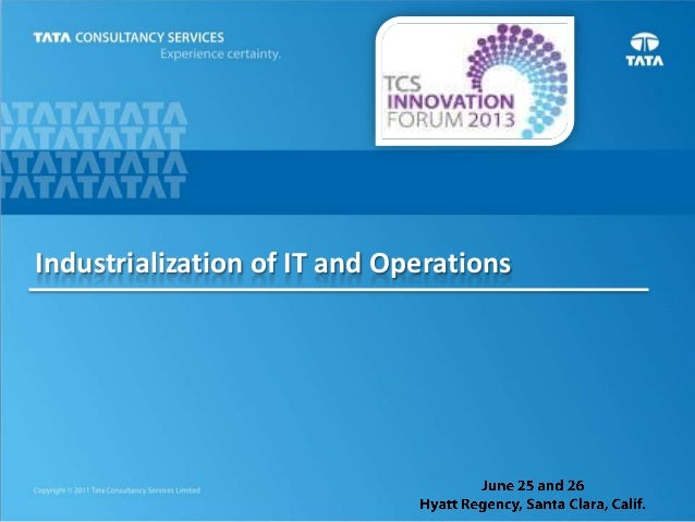 Industrialization of IT and Operations