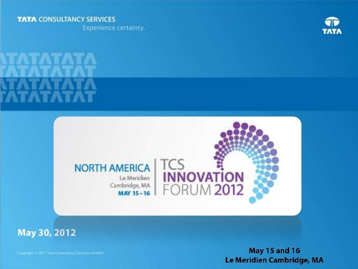 TCS Innovation Forum 2012 - Day1: TCS Cloud Study