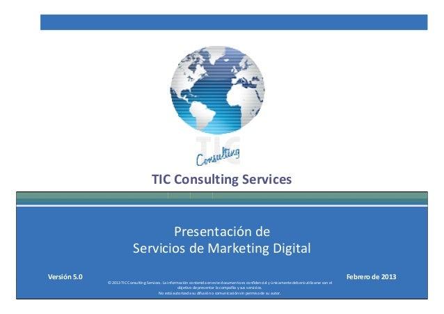 TCS Presentación de Servicios de Marketing Digital v 5