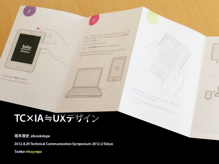 "TC x IA ""UX Design"" Technical Communication Symposium 2012 Tokyo"