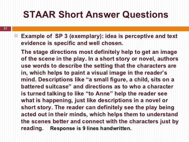 writing short essay answer