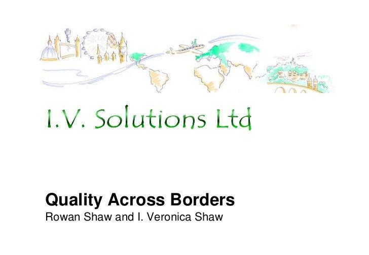 Quality across borders