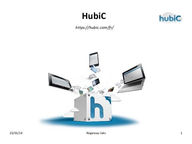 HubiC https://hubic.com/fr/  25/01/14  Régereau Inès  1