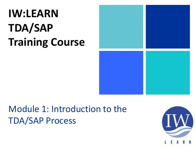 TDA/SAP Methodology Training Course Module 1 Section 1