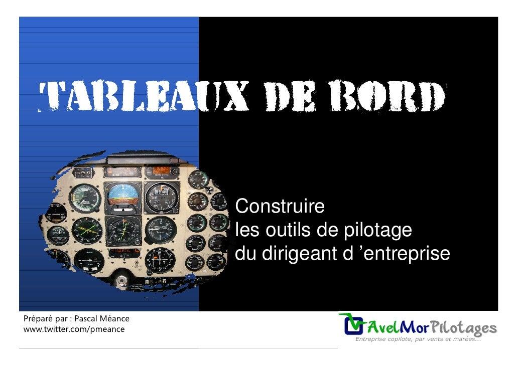 Tableaux de bord                                Construire                               les outils de pilotage           ...
