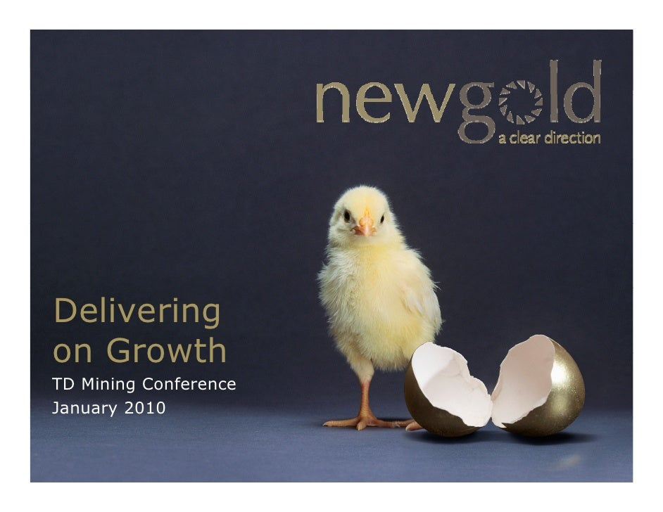 Delivering on Growth TD Mining Conference January 2010       y                          www.newgold.com   TSX/NYSE AMEX US...