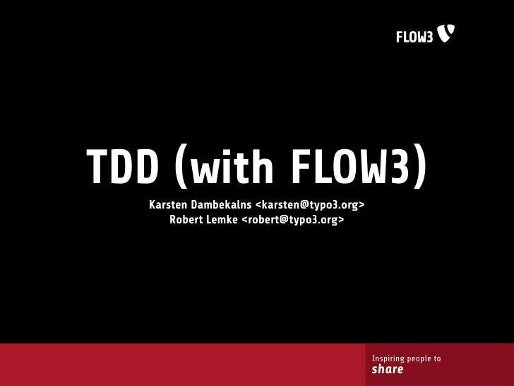 TDD (with FLOW3)