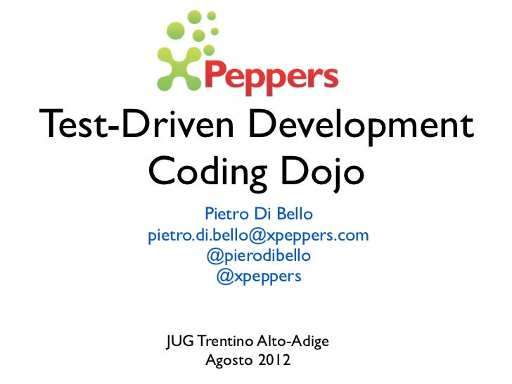 A brief intro to TDD for a JUG-TAA event