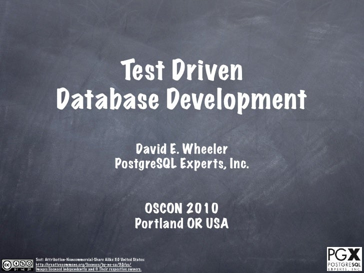 Test Driven Database Development
