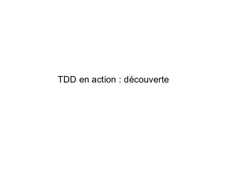 TDD en action : découverte
