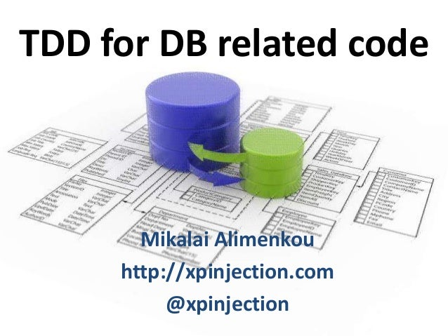 TDD for DB related code  Mikalai Alimenkou http://xpinjection.com @xpinjection