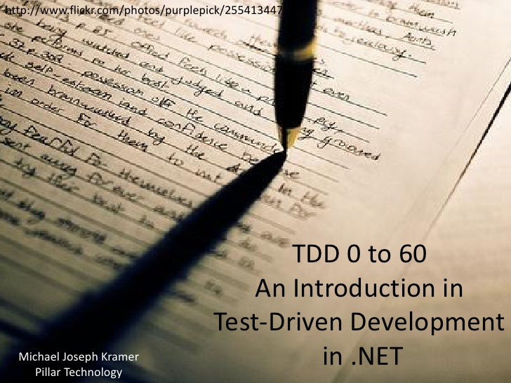 TDD 0 to 60 - An Introduction to Test-Driven Development in .NET