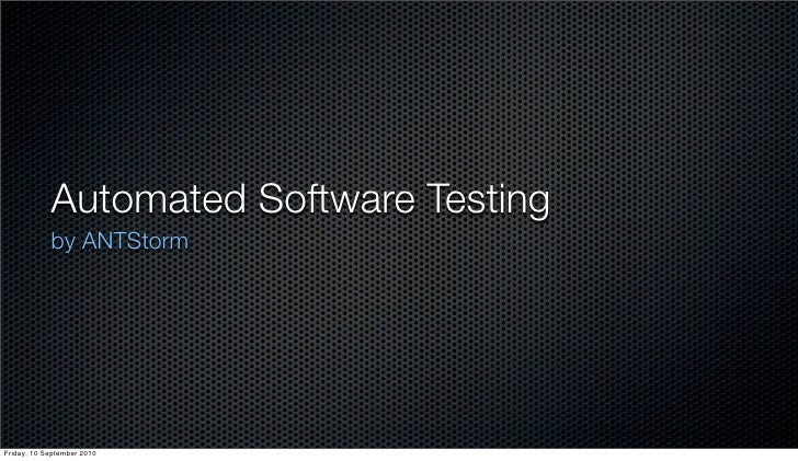 Test-driven development (Anton Dmitriyev)