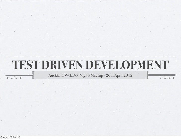 Test Driven Development - Caleb Tutty