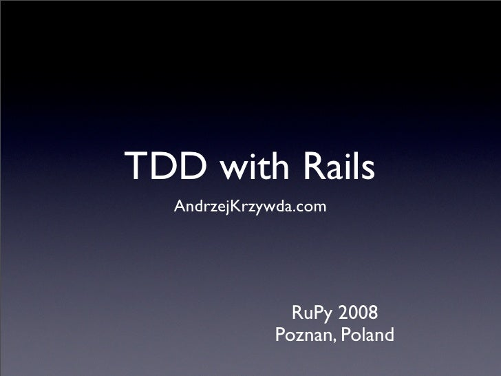 TDD with Rails