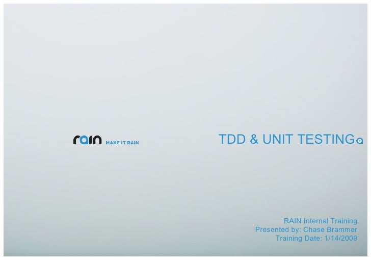 TDD and Unit Testing