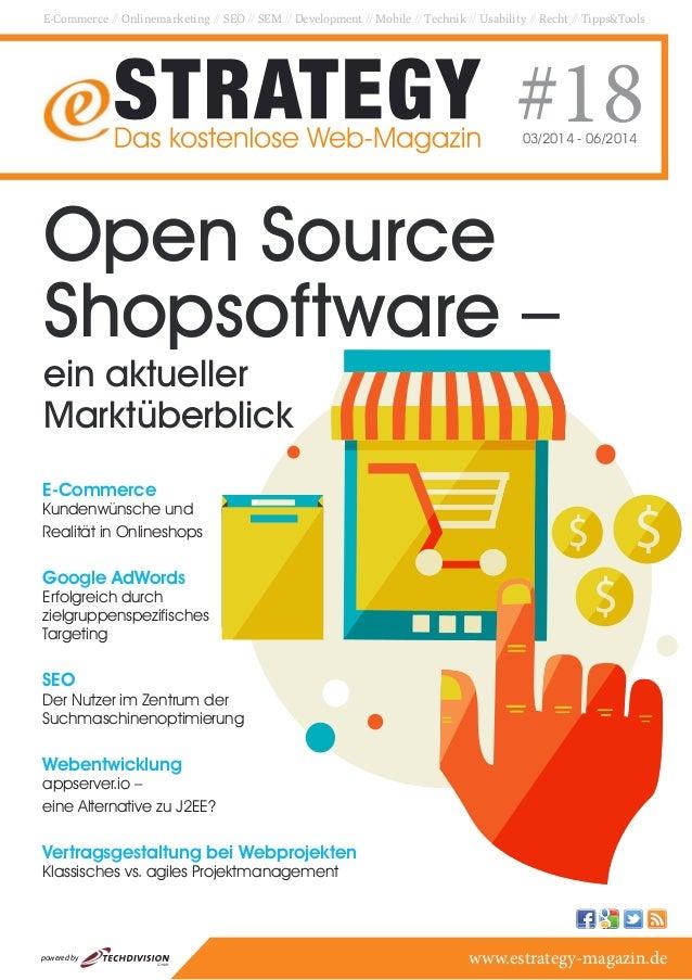 E-Commerce // Onlinemarketing // SEO // SEM // Development // Mobile // Technik // Usability // Recht // Tipps&Tools #1803...