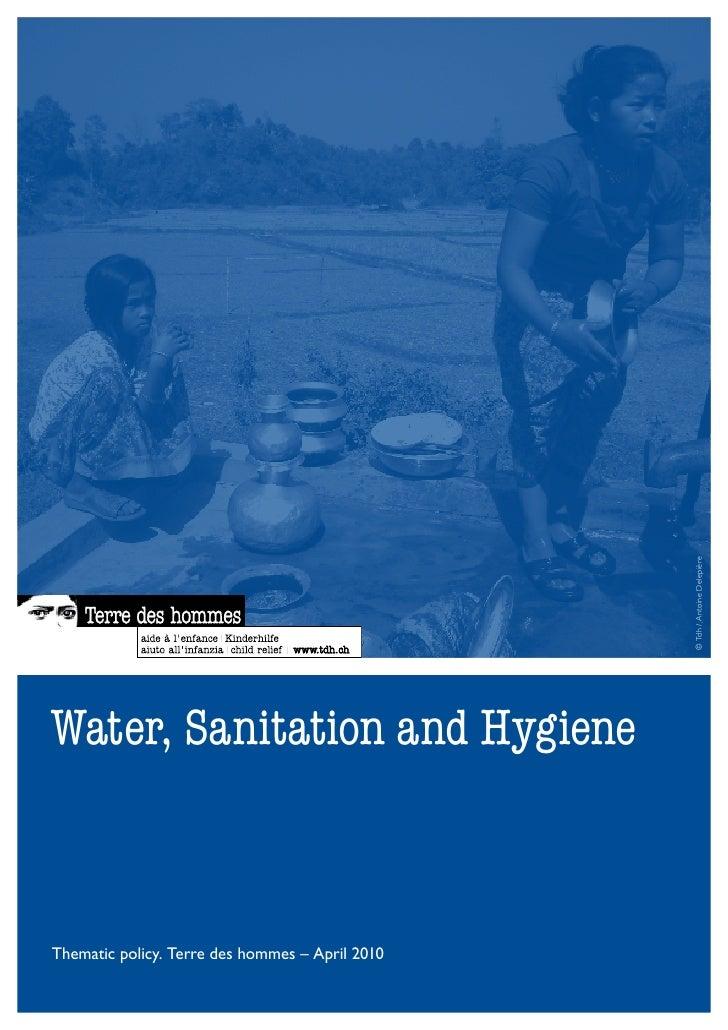 Tdh -Water, sanitation and hygiene