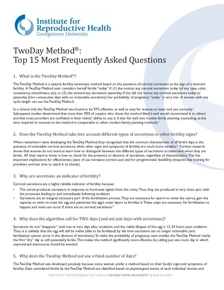 The TwoDay Method® Top 15 FAQs