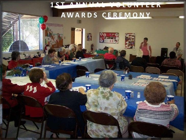 EVENT MANAGEMENT STYLE: Awards Presentation