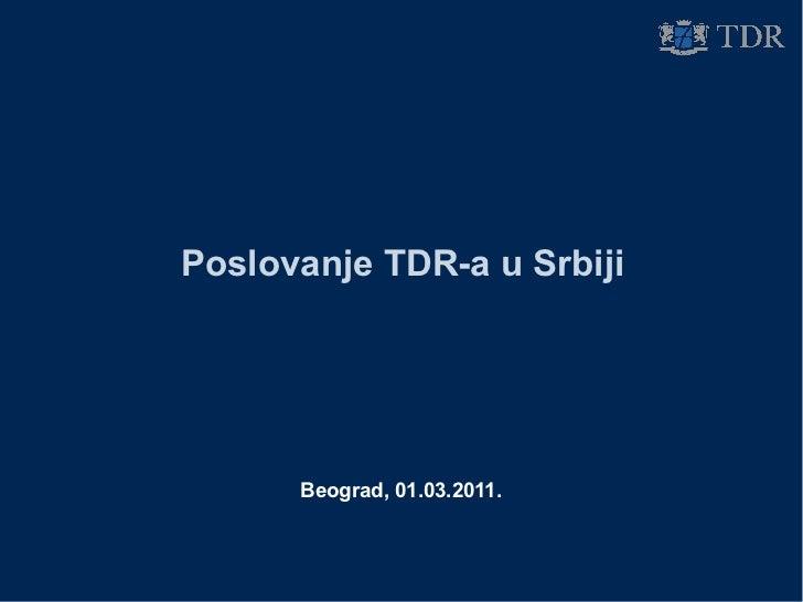 Konferencija za medije, Beograd, 1.03.2011: Rekordna prodaja u Srbiji