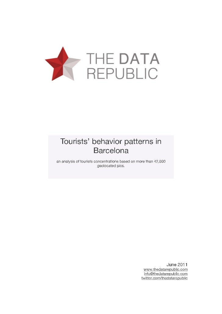 Tourists' behavior patterns in Barcelona