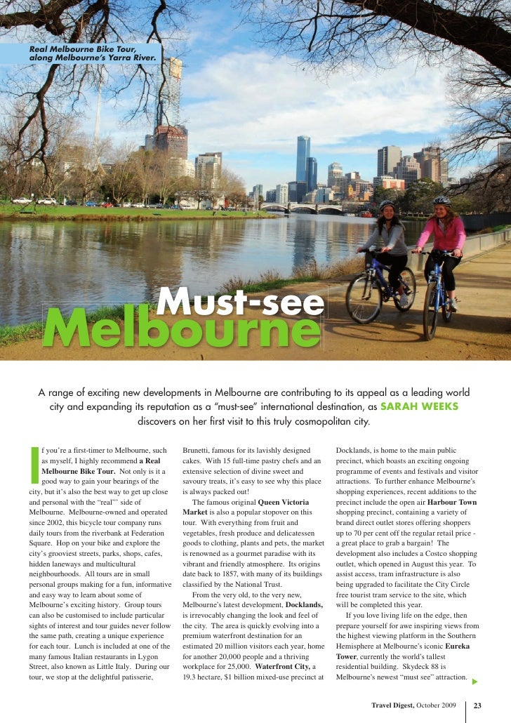 Real Melbourne Bike Tour, along Melbourne's Yarra River.                                               Must-see     Melbou...