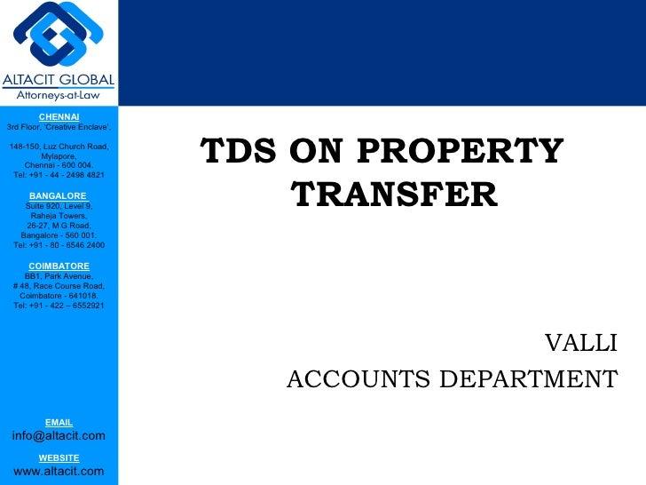 Tds on property transfer